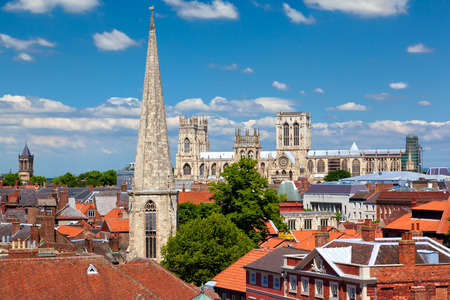 Cityscape van York, een stad in Noord-Yorkshire, Engeland Stockfoto