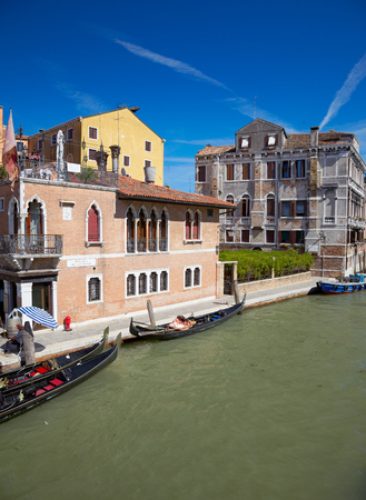 View on Canal Cannaregio from Guglie bridge   Ponte delle Guglie   in Venice, Italy photo