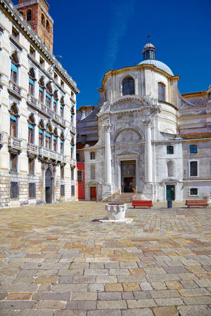 Church San Geremia and Palazzo Labia in Venice, Italy photo