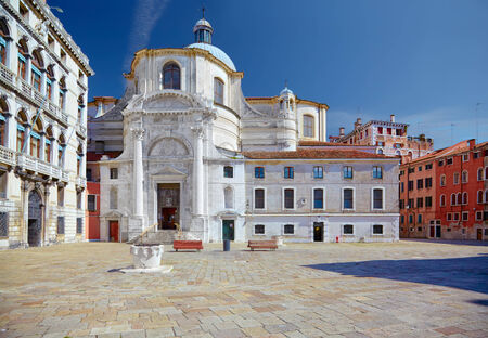 sestiere: Church San Geremia and Palazzo Labia in Venice, Italy