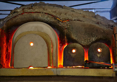 murano: Stove for melting glass in Murano, Italy