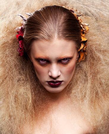 crimp: Halloween Beauty style woman makeup Stock Photo