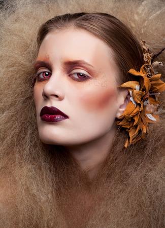 Halloween Beauty style woman makeup photo
