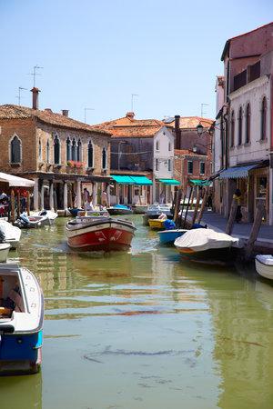 daniele: MURANO, ITALY - JUNE 26, 2012  View on canal Rio dei Vetrai and embarkments dei Vetrai and Daniele Manin in Murano, Italy
