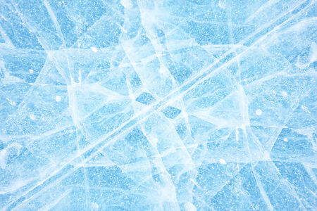 interstice: Texture of ice of Baikal lake in Siberia