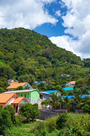 Village under the mount in Mueang Phuket District, Phuket, Thailand photo