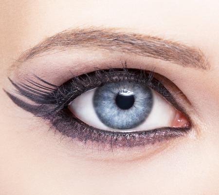 eye liner: Closeup eye-zone image make-up of beautiful girl