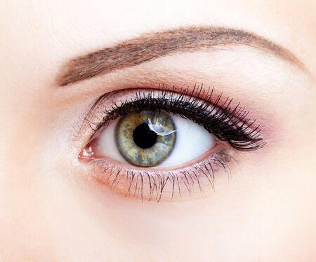 eye brow: Close-up shot of female eye makeup Stock Photo