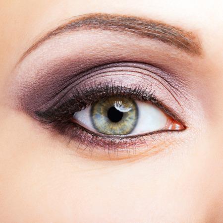 Close-up shot of female eye makeup Stock Photo