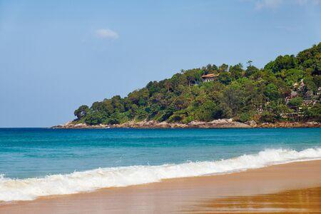 breaking wave: Karon beach on Phuket island, Thailand