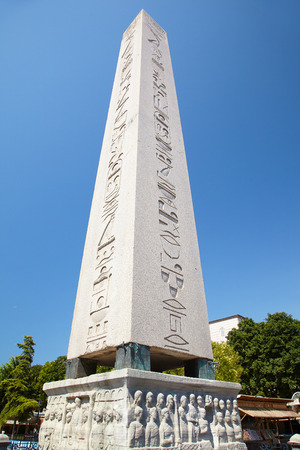 ancient near east: The Obelisk of Theodosius is the Ancient Egyptian obelisk of Pharaoh Thutmose III places in the Hippodrome of Constantinople, Turkey Stock Photo