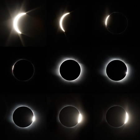 phases: The total Solar Eclipse in Altai region of Russia August 01, 2008