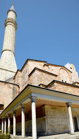standpoint: The one of Hagia Sophia minaret, Istanbul, Turkey Stock Photo
