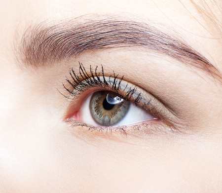 Close-up shot of female eye makeup Standard-Bild
