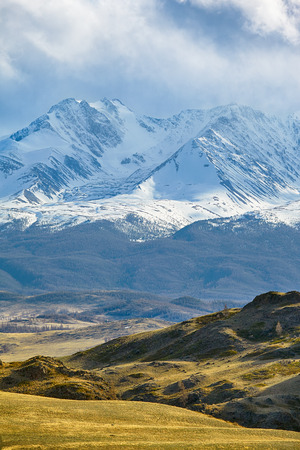 Altai mountains in Kurai area with North Chuisky Ridge on background. photo