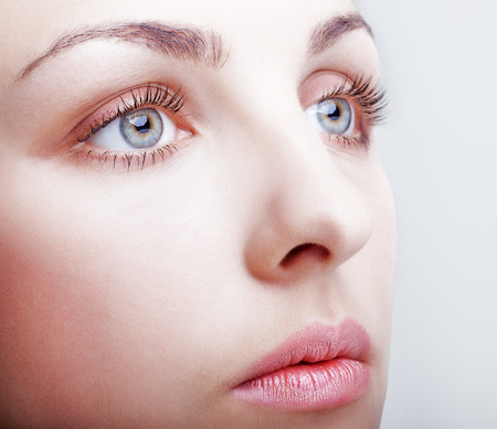 Close-up shot of female face makeup