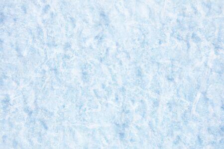 Texture of snow of Baikal lake in Siberia Stock Photo