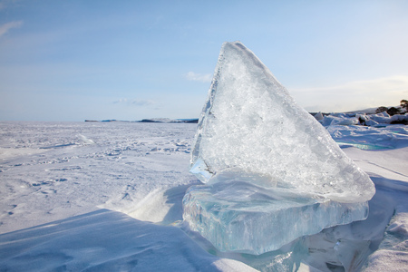 floe: Ice floe on winter Baikal lake Stock Photo