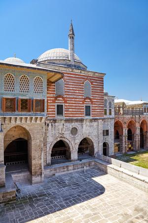 harem: The building where the Harem favorites lived. The Courtyard of the Faviorites in the Harem, Topkapi Palace, Istanbul