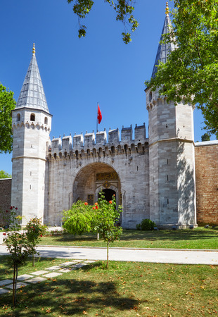 salutation: The First Courtyard  of Topkapi Palace and Gate of Salutation, Istanbul, Turkey
