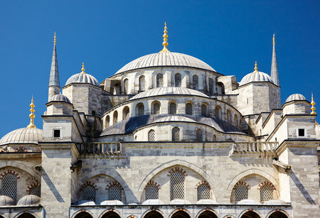 blue mosque: Sultan Ahmed Mosque  Blue Mosque, a famous historic mosque in Istanbul, Turkey.