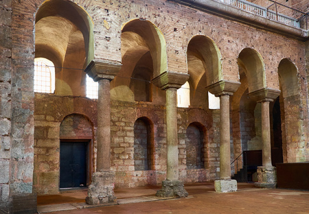 chambers: ISTANBUL, TURKEY - JULY 12, 2014: The interior of Hagia Irene Saint Irene. Hagia Irene, the former Eastern Orthodox church located in the outer courtyard of Topkap Palace in Istanbul, Turkey.