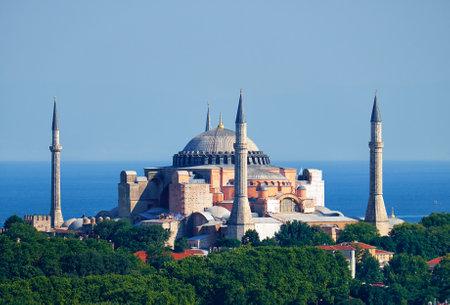 marmara: The view of Hagia Sophia on the background of the Marmara Sea, Istanbul, Turkey