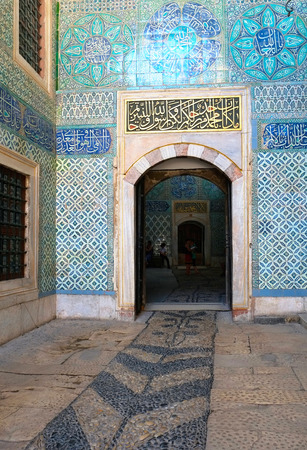 ancient near east: ISTANBUL, TURKEY - JULY 12, 2014: The interior of Black Eunuchs Courtyard  in Topkapi Palace Harem, Istanbul, Turkey