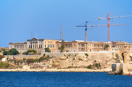 The reconstruction of Villa Bighi, formerly  a Bighi Royal Naval Hospital and now the Malta Centre for Restoration, Birgu, Malta