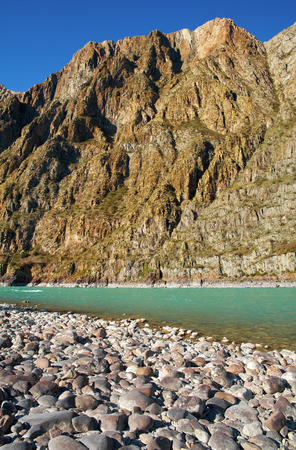 katun: Siberian  river Katun in Altai mountains