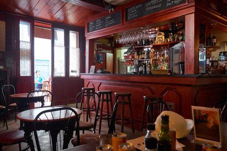 alehouse: VALLETTA, MALTA - JULY 24, 2015: The view of the cafe interior with bar in Valletta, Malta Editorial