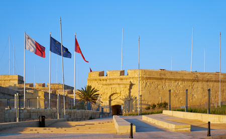flagging: The Malta at War Museum, dedicated to Maltas World War II history, housed in Couvre Porte. The former part of the fortifications of Birgu. Malta