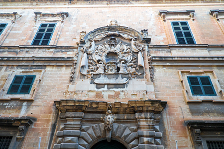oficina antigua: Facade of Maltese Ministry for Tourism office, the former Auberge d�Italie, the residence of the Italian Knights, Valletta, Malta