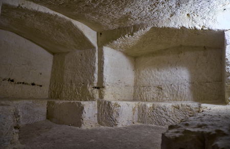 st pauls: RABAT, MALTA - JULY 29, 2015:  St. Pauls Catacombs - an extensive system of underground galleries and tombs - the most prominent features of Malta