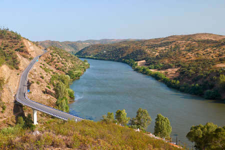 The Lower Guadiana International Bridge on the boundary between Portugal and Spain