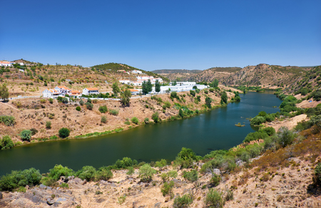 The view of the Guadiana river near Mertola. Baixo Alentejo, Portugal Stock Photo