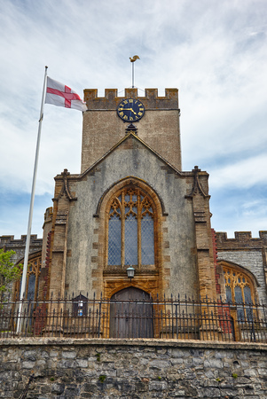 The parish church of St Michael the Archangel, above Church Cliff. Lyme Regis. West Dorset. England