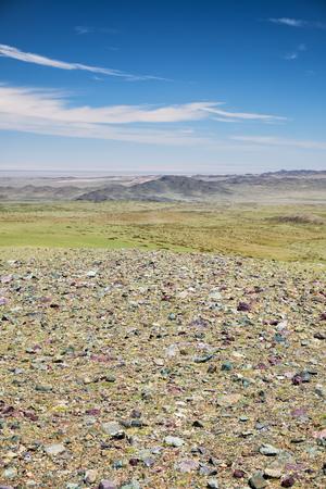 Mountain mongolian natural landscape. Natural boundary Tsagduult, western Mongolia