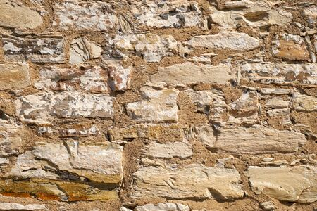 Texture of old brick stone wall. Stone wall background Banque d'images