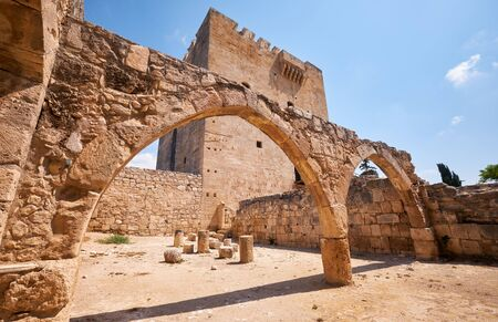 The remains of the old arches near the keep of  Kolossi Castle. Kolossi. Limassol District. Cyprus
