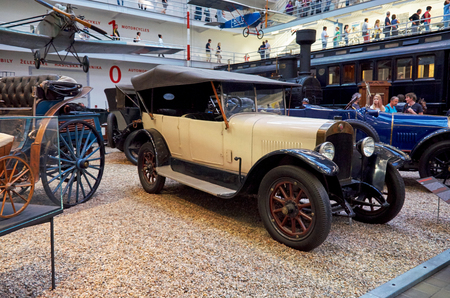 Czech Republic. Prague. National Technical Museum. Antique car. June 11, 2016 Editorial