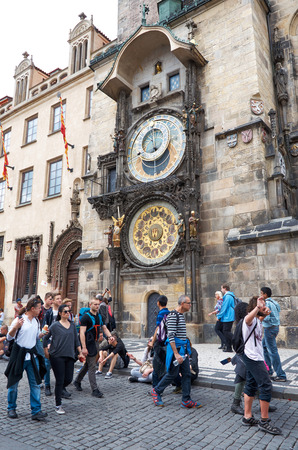 astronomical: Czech Republic. Prague. Prague Astronomical Clock. Orloj. Editorial