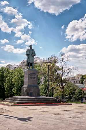 nikolay: Russia. Moscow. Monument to Gogol in Moscow on Gogol Boulevard. 20 June 2016.