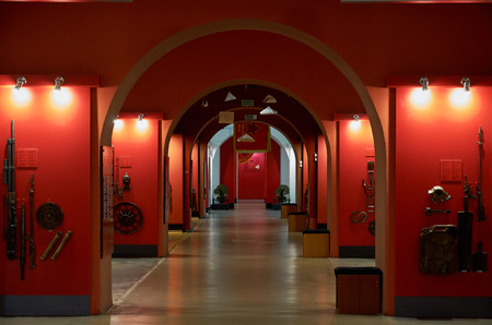 Belarus. Brest. Brest Fortress. The Museum of Defense of the Brest Fortress-Hero. Interior decoration of the museum. May 23, 2017