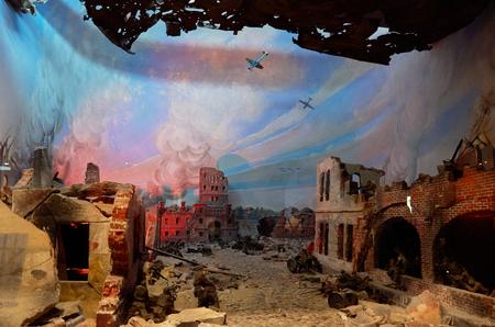 ベラルーシ。ブレスト。ブレスト要塞。ブレストの要塞英雄の防衛博物館の第二次世界大戦の時代から展示しています。2017 年 5 月 23 日