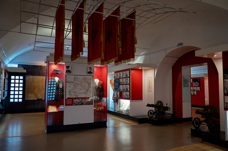 Belarus. Brest. Brest Fortress. Exhibits from the times of the Second World War of the Defense Museum of the Brest Fortress-Hero. May 23, 2017
