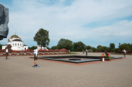 Belarus. Brest. Brest Fortress. Sentinel of Memory in the Eternal Flame of the Brest Fortress. May 23, 2017