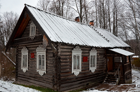 Russia. Karelia. Marcial Waters. Mineral springs. The house of the branch of the National Museum of the Republic of Karelia. November 17, 2017. Editorial