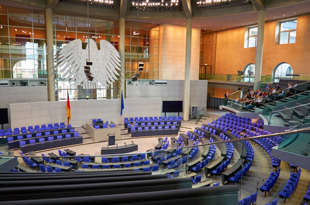 Germany. Berlin. The interior of the Reichstag in Berlin. February 16, 2018 Éditoriale
