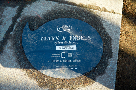 Germany. Berlin. Monument to Marx and Engels in Berlin. February 16, 2018 Editorial